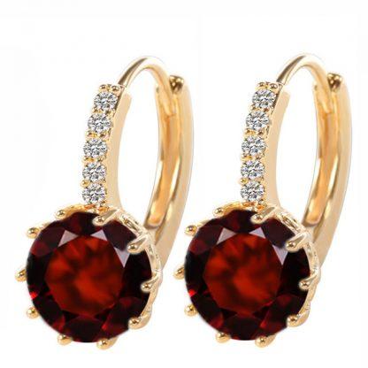 Cubic Zircon Hoop Earrings Women Fashion Jewelry
