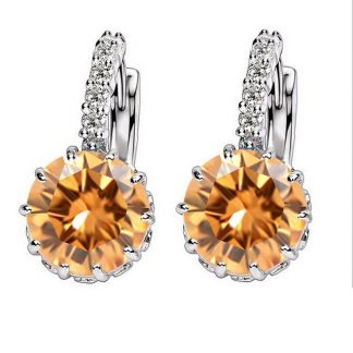 Cubic Zircon Hoop Earrings Women Fashion Jewelry