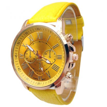 Faux Leather Quartz Analog Men Watches Fashion Jewelry