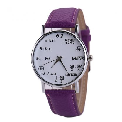 Math Printed Students Quartz Wrist Watch Unisex Fashion Jewelry