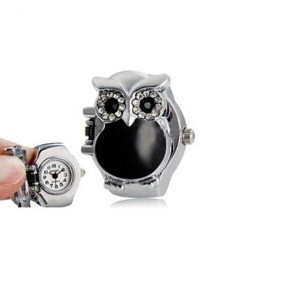 Owl Finger Watch Ring Women Fashion Jewelry