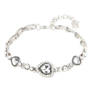 Love Heart Crystal Rhinestone Women Fashion Jewelry Bracelet