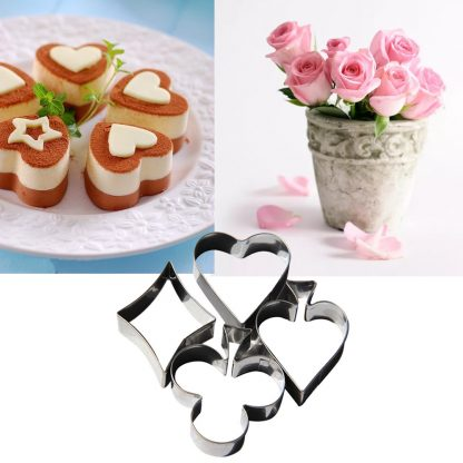 1 Set Mini Cutting Aluminium Alloy Gingerbread Biscuit Mold