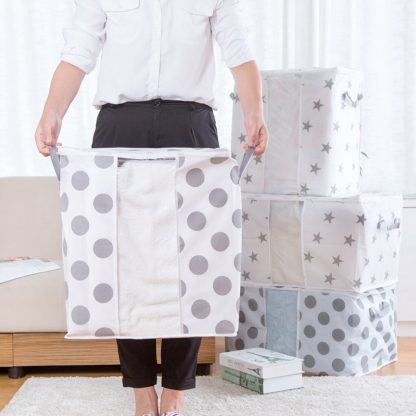 Foldable Storage Bag Clothes Blanket Quilt Closet Sweater Organizer