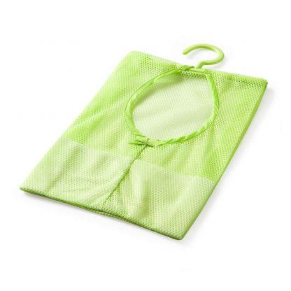 Home Kitchen Bathroom Clothesline Storage Dry Mesh Bag Hook