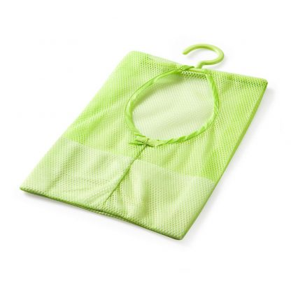 Home Kitchen Bathroom Clothesline Storage Dry Mesh Bag Hook