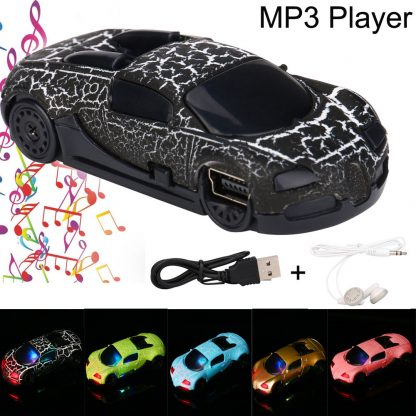Mini Car MP3 Player Support 32GB Micro SD TF Card Cable Charger Earphone Set