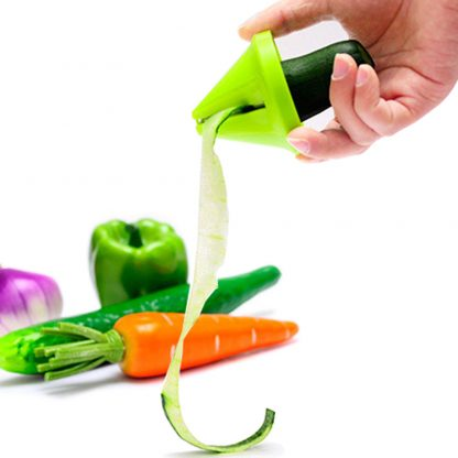 Funnel Vegetable Carrot Radish Shred Spiral Slicer