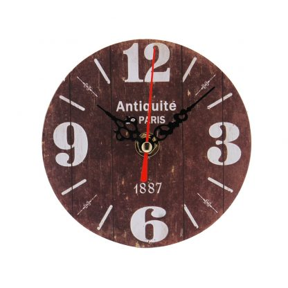 Non-Ticking Silent Antique Wood Home Kitchen Office Wall Clock