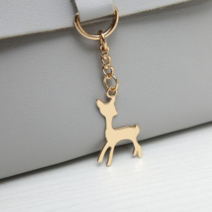 Golden Charming Deer Women Messenger Cross Body Purse