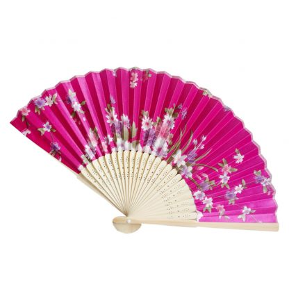 Multi-Color Floral Print Folding Women Girls Hand Fan