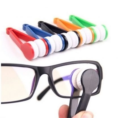 Sun Glasses Eyeglass Microfiber Spectacles Cleaner Brush 1