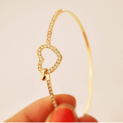 Love Heart Crystal Women Fashion Jewelry Bracelet