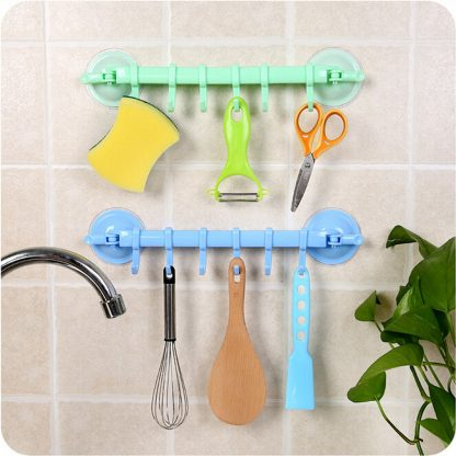 Hooks Supper Power Sucker Stand Kitchen Bathroom Hanger