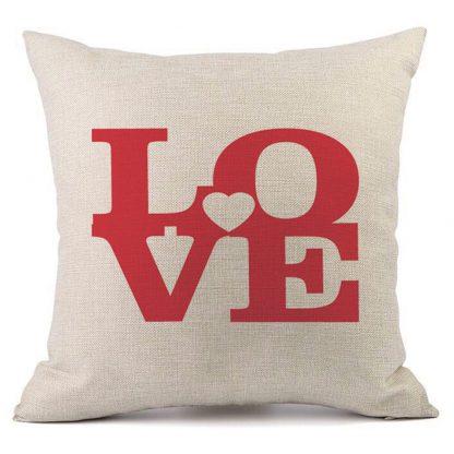 Heart Rose Pillow Case Cover Love Valentine Home Decor