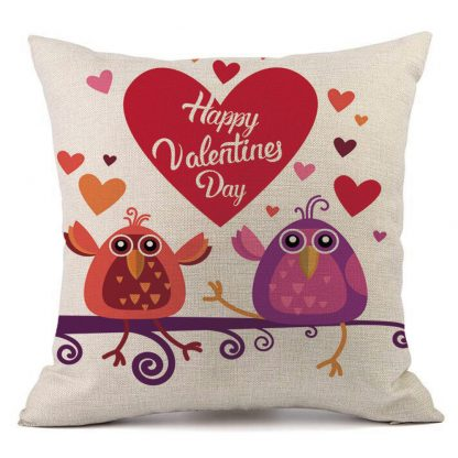 Heart Rose Pillow Case Cover Love Valentine Home Decor