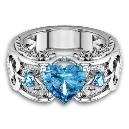 Beautiful Heart Ring Women Fashion Jewelry