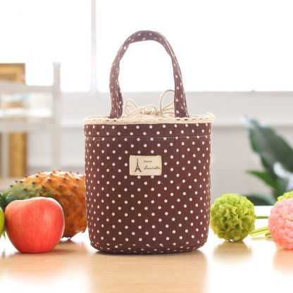 Drawstring Thermal Insulated Lunch Cooler Bag