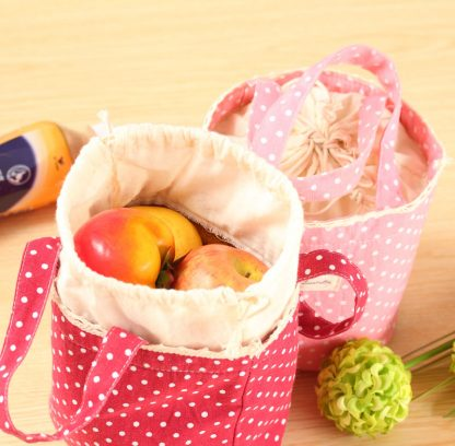 Drawstring Thermal Insulated Lunch Box Cooler Bag