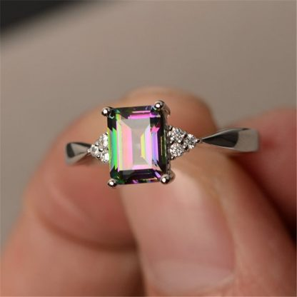 Multi-Color Crystal Women Fashion Jewelry Ring