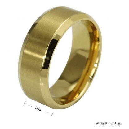 Stainless Steel Men Women Unisex Band Ring Fashion Jewelry