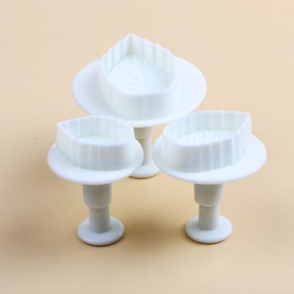 Cake Leaf Rose Plunger Fondant Decorating Mold Cutter Set