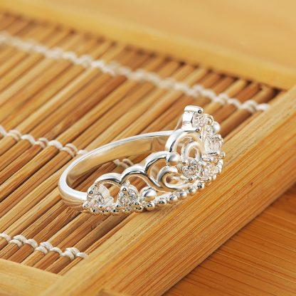 Clear Crown Crystal Zircon Women Ring Fashion Jewelry