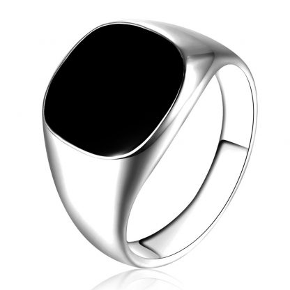 Dedicate Classic Black Surface Men Ring Fashion Jewelry