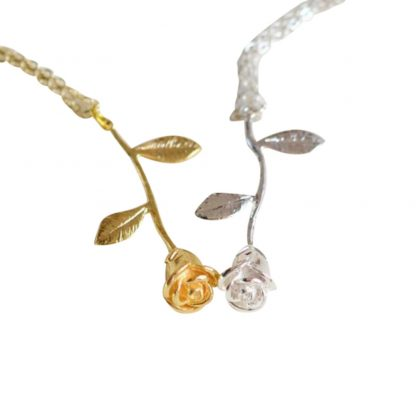 Rose Flower Women Pendant Necklace Fashion Jewelry