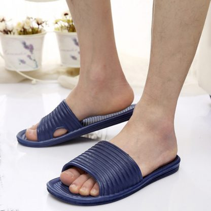 Summer Stripe Flat Sandal Men Slipper