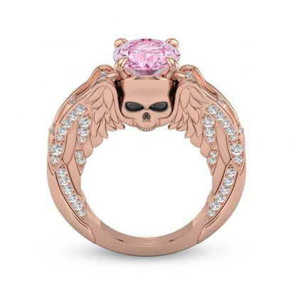 Delicate Skull Ring Women Fashion Jewelry