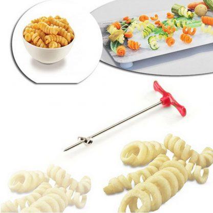 Rotating Roller Slicer Vegetable Fruit Spiral Cutter