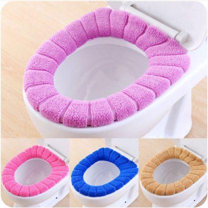 Comfortable Velvet Coral Toilet Seat Cover Standard