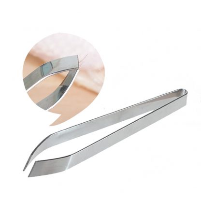 Fish Bone Feather Hair Tweezers Stainless Steel Remover