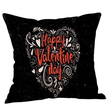 Love Heart Valentine Pillow Cover Case