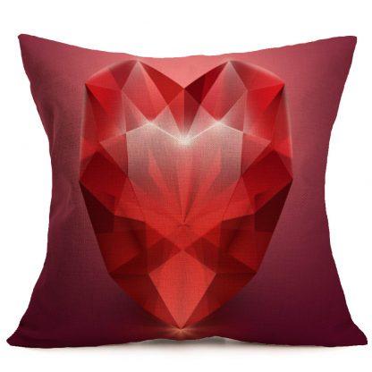 Heart Rose Pillow Case Cover Valentine Love