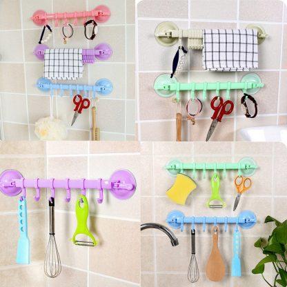 Hooks Supper Power Sucker Stand Kitchen Bathroom Hanger