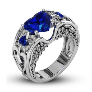Beautiful Heart Ring Women Fashion Jewelry