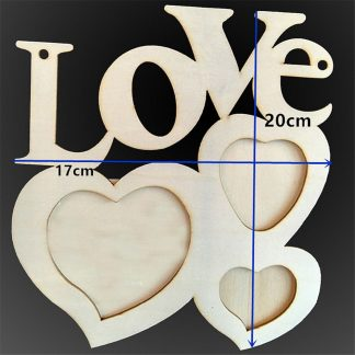 Small Love Heart Wooden Photo Frame Home Decor