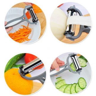 Rotary Fruit Vegetable Carrot Potato Peeler Cutter Slicer
