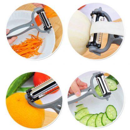 Rotary Fruit Vegetable Carrot Potato Peeler Cutter Slicer