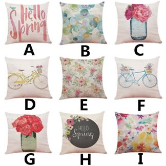 Spring Theme Pillow Case Cover Home Decor