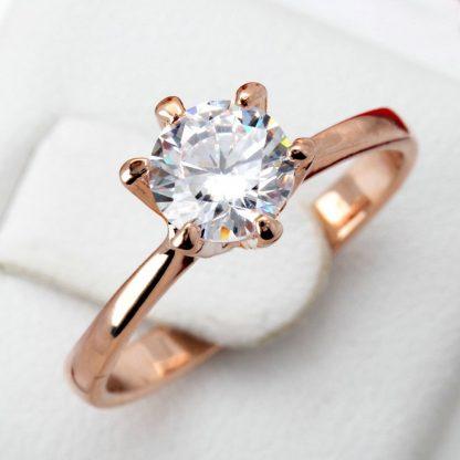 Classic Zircon Wedding Engagement Women Fashion Ring