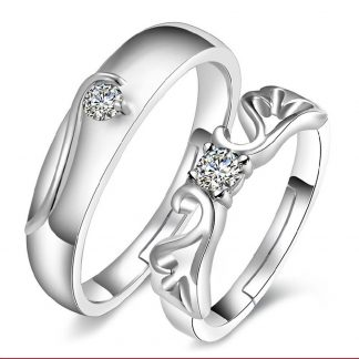 Adjustable Design Men Women Couple Jewelry Fashion Ring