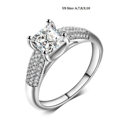 Classic Luxury Crystal Women Fashion Jewelry Ring