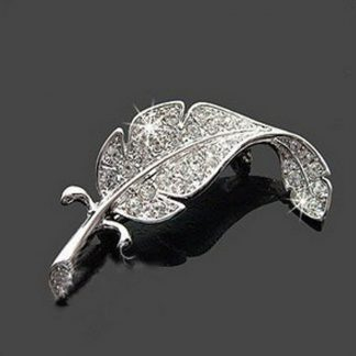 Cute Beautiful Leaf Mini Women Brooch Pin