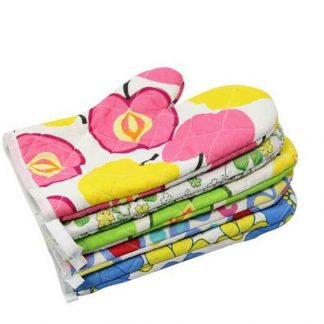 Cotton Microwave Oven Glove Pot Holder Set