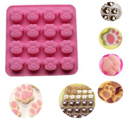 Mini Paw Print Silicone Cookie Cake Candy Chocolate Mold Soap Ice Cube Mold