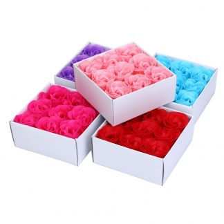 9 Pieces Heart Scented Bath Body Petal Rose Flower Soap