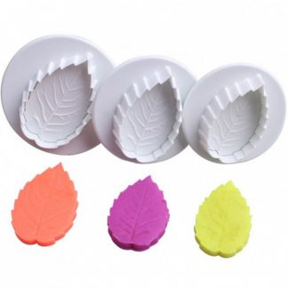 Cake Leaf Rose Plunger Fondant Decorating Mold Cutter Set
